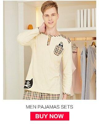 Conjuntos de pijama masculino 100% algodão primavera