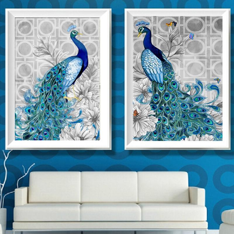 5D Diamond Painting Peacock Rhinestone Embroidery Cross Stitch Kits Mosaic Art Craft Needlework Home Room Decor Gifts