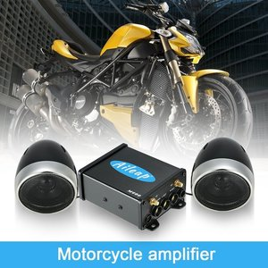 """Image 5 - Aileap Motorcycle/ATV Audio System with Bluetooth FM Radio Aux Input Wired Control One Pair of 4"""" Waterproof Speakers"""