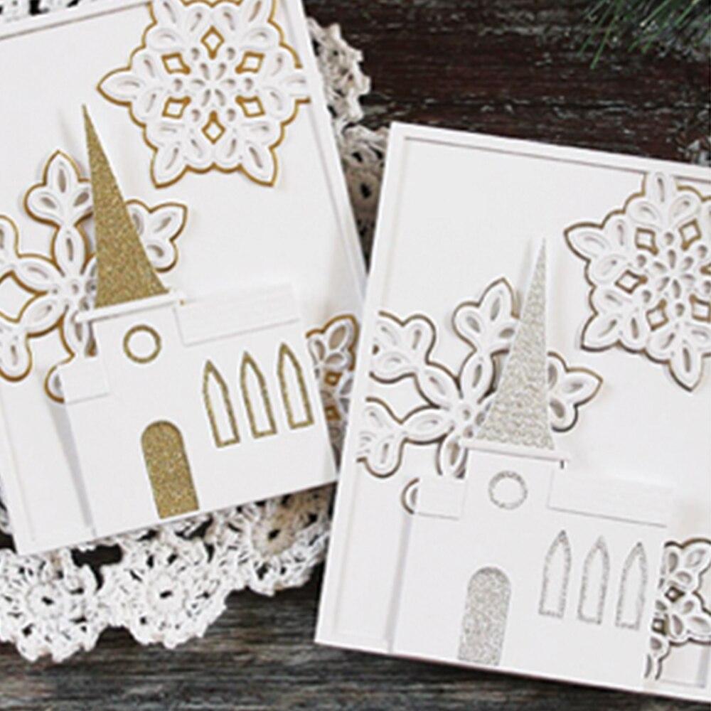 Naifumodo Building Dies Metal Cutting Scrapbooking for Card Making Album DIY Embossing Cuts New 2019 Craft House Decor