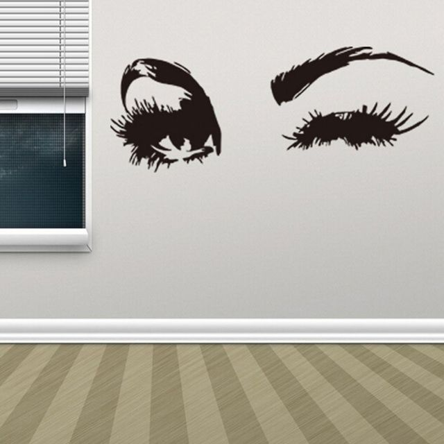 1PC Sexy Beautiful Eyes Wall Sticker Quotes