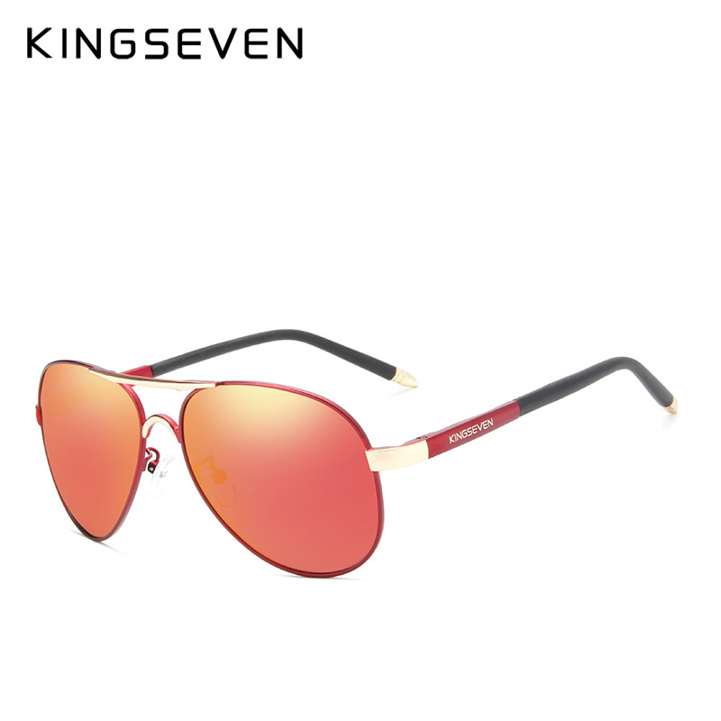 aa4b6fda0a KINGSEVEN Polarized Sunglasses Men Brand HD Polaroid Lens Reflective  Coating Driving Sunglasses Vintage Male Eyewear N7503-in Sunglasses from  Men s Clothing ...