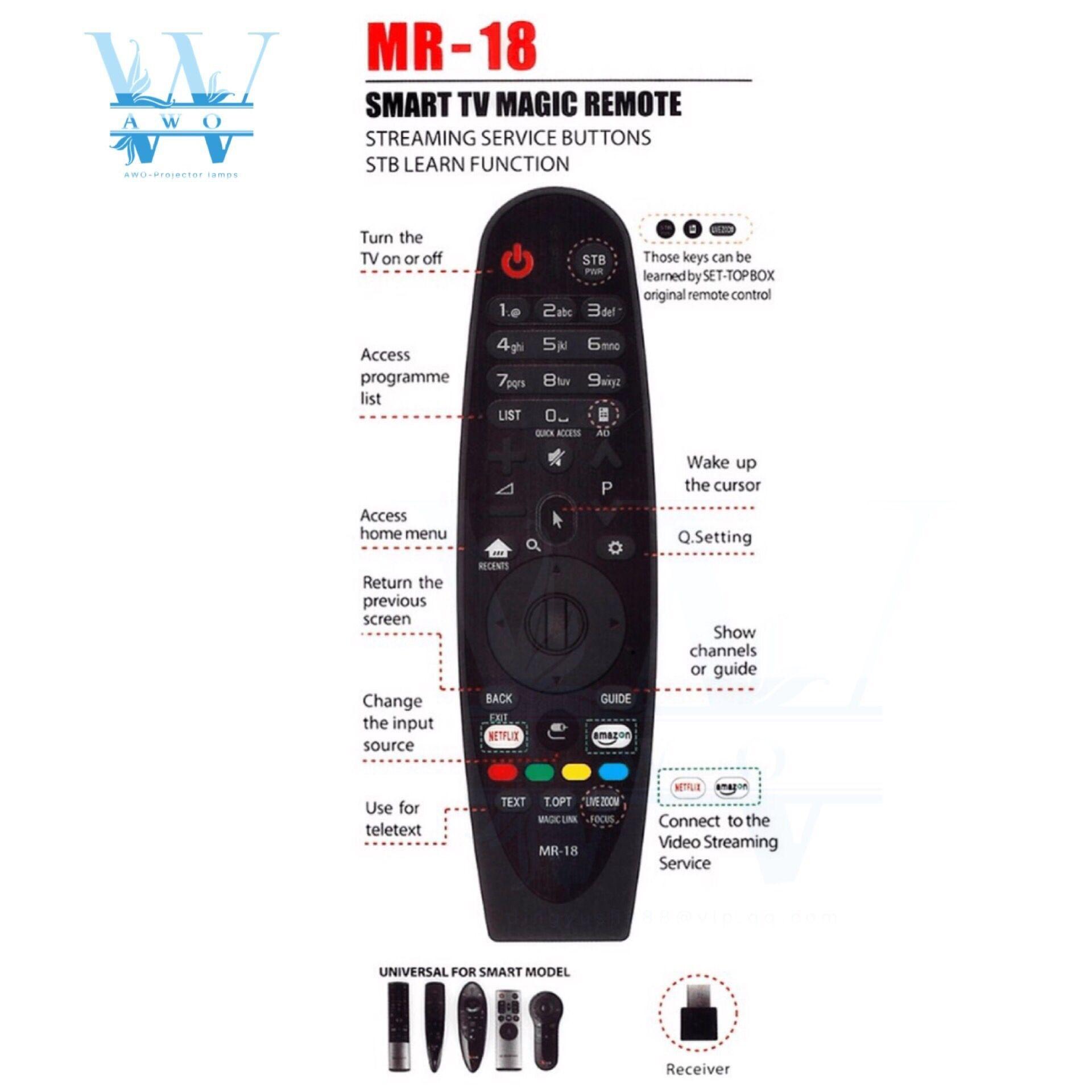 100% New MR-18 Universal Smart Magic Remote Control Fof LG TV AN-MR18BA  AKB75375501 UK6500 UK6300 UK6570 UK7700 SK8000 SK8070