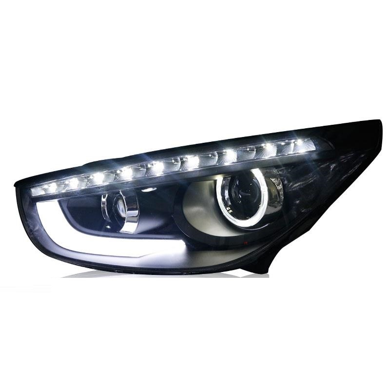 Daytime Running Lamp Drl <font><b>Neblineros</b></font> Para Auto Side Turn Signal Lights Assembly <font><b>Led</b></font> Car Lighting Headlights For Hyundai <font><b>Ix35</b></font>