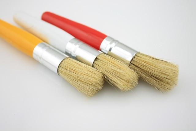 6pcs/lot Chubby Stubby child kids paint brushes set Baby Childrens ...
