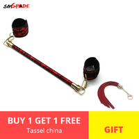 Smspade Spreader Bar Set With Cuffs Adult Bondage Adult Sex Games Toys For Couples Restraint bdsm Lace Spreader Bar Sex Cuffs