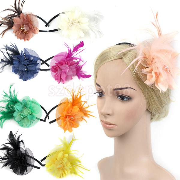 Phenovo Fascinator Flower Hat Hairband Wedding Party
