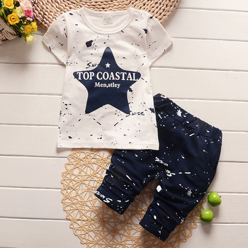 New Summer Baby Boys Clothing Set For Kids Star T-Shirt+Short