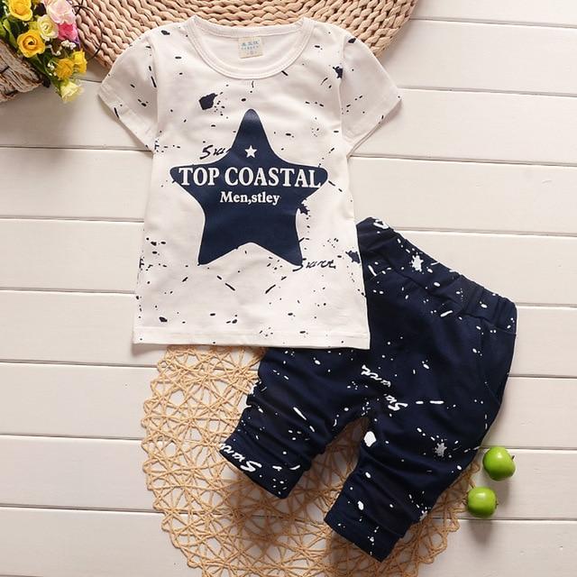 New Summer Baby Boys Clothing Set For Kids Star T-Shirt+Short