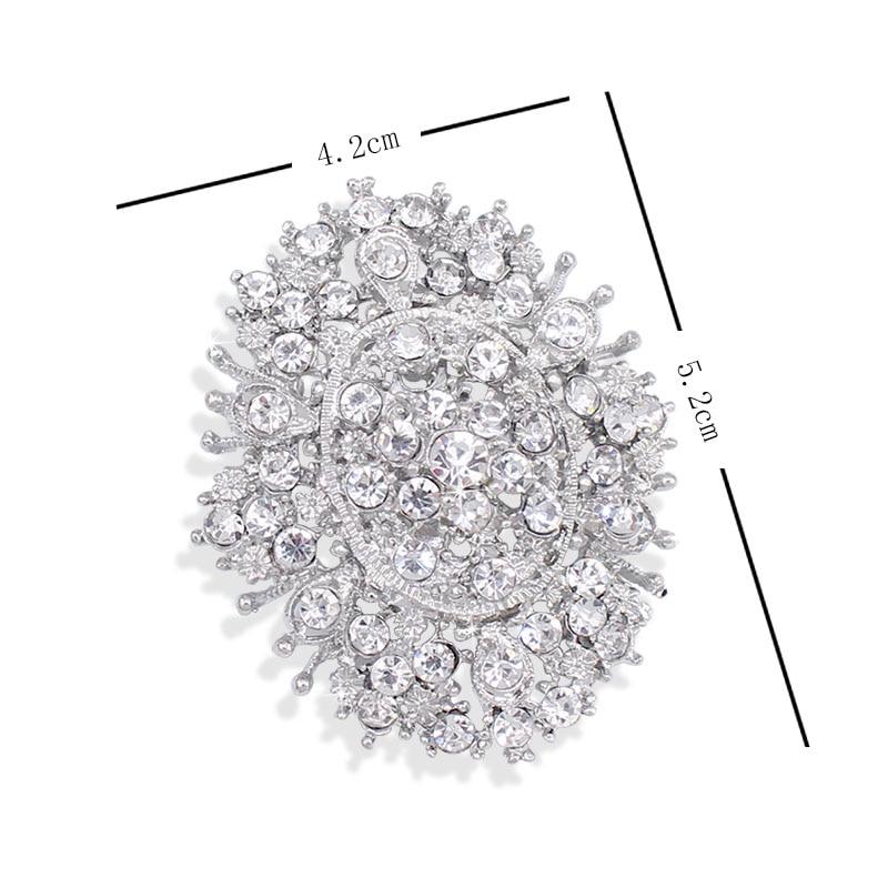 f0cbf58aa3fe8 ⃝Venda quente Da Moda Homens Jóias Pin-Oval Crystal Clear ...