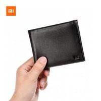 Original Xiaomi Men Wallet Full Grai Leather Fashion Short Purse For Man Woman Stylish Double Purse