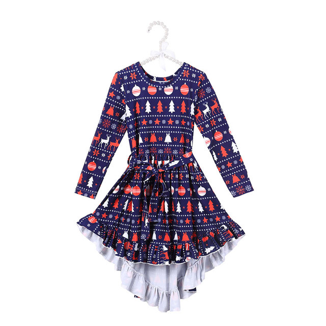 ed574139cb Girls Christmas Flower Lace Embroidery Dress Kids Dresses for Girl Princess  Autumn Winter Party Dress Children Clothing Wear