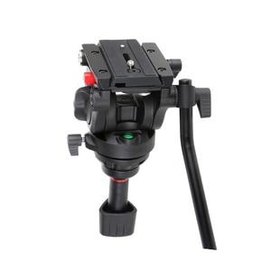 Image 4 - VILTROX VX 18M 1.8M Professional แบบพกพา Heavy Duty Stable อลูมิเนียมลื่น Video + ขาตั้งกล้องไฮดรอลิกหัววิดีโอกล้อง DV
