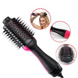 2-в-1 отрицательных ионов выпрямления один шаг волос фен-щетка бигуди расческа электрический фен с Расческа Щетка для волос Styler