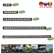 4-25 Inch LED Bar LED Light Bar for Car Tractor Boat OffRoad Off Road 4WD 4x4 Truck SUV ATV Driving 12V 24V weketory 4 36 inch led bar led light bar for car tractor boat offroad off road 4wd 4x4 truck suv atv driving 12v 24v
