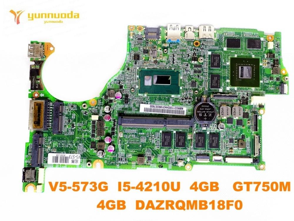 original for font b ACER b font V5 573G laptop motherboard V5 573PG I5 4210U 4GB
