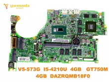 original for ACER V5-573G laptop motherboard V5-573PG I5-4210U 4GB GT750M 4GB DAZRQMB18F0 tested good free shipping
