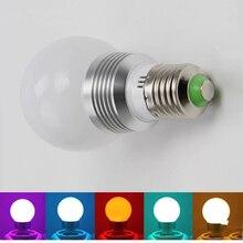 E27 LED RGB лампа AC110V 220 В 3 Вт LED RGB пятно света затемнения волшебный Праздник RGB освещение + ИК-Пульт Дистанционного Управления 16 цвета