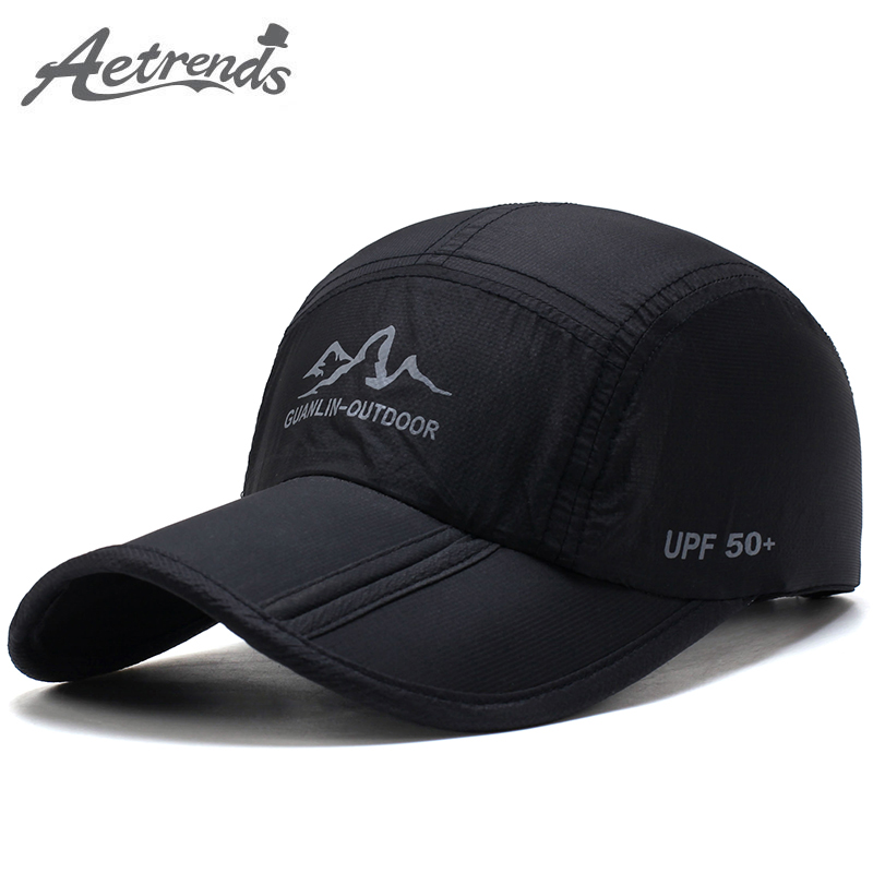 [AETRENDS] 2017 Ultra-Thin Quick Drying Folding Baseball Cap Men Women Summer Hat Travel Sun Shade Hats Z-5119