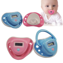 Infant Baby Digital Dummy Pacifier Electronic Thermometer Soother Trendy Safe Pink / Blue