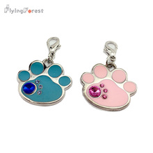 Factory was exquisite handmade pendants, pet lovely cat paw shape,Pink and blue can choose, quality assurance, price concessions