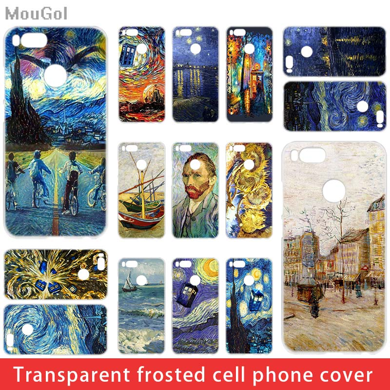 Official Website Mougol Doctor Who Van Gogh Art Transparent Hard Phone Case For Xiaomi Redmi 3 5 6 4x A Plus Pro Mi 5x A1 8se Note 3 4 5a Strengthening Waist And Sinews Cellphones & Telecommunications