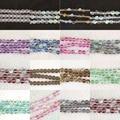 Multicolor de cristal de quartzo pedra Semi-preciosa galvaniza 8mm rodada gems solta pérolas rainbow jewelry making 15 polegada B974