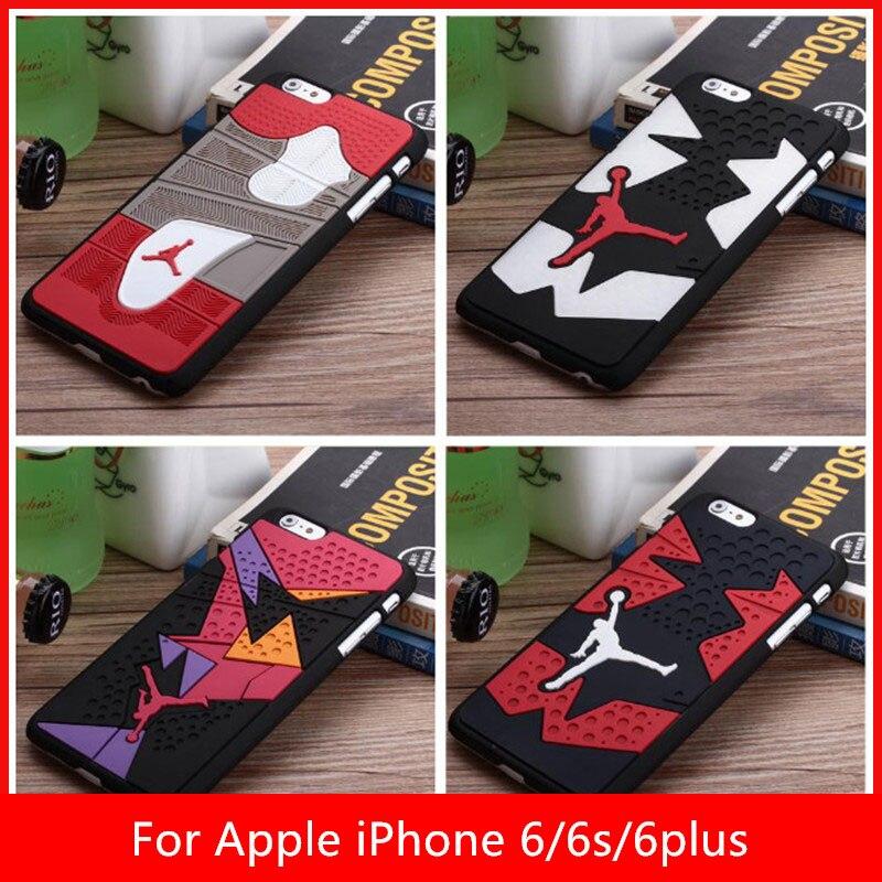 2015 Air Jordan sneakers 4 6 7 Sole PVC Rubber Phone Cases For Apple iPhone 6 6s 6plus 6s plus jordan's Shoes Mobile Back Cover