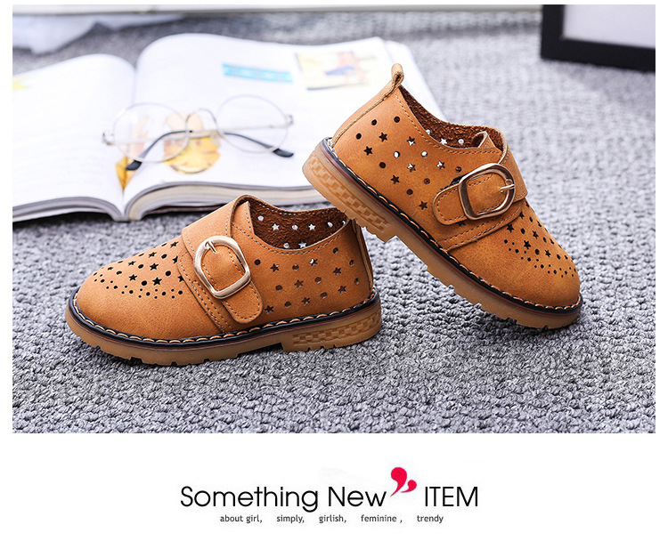 Summer Children Shoes PU Leather Sport Shoes Buckle Strap Child Casual Kids Shoes For Girls Cut-Outs Martin Baby Boys Sneakers 14