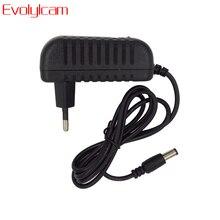 Evolylcam fuente de alimentación de 12V 2a, adaptador de corriente AC/ DC para sistema de cámara CCTV de Seguridad, convertidor NVR DVR, cargador de enchufe para EE. UU./UE/REINO UNIDO/AU