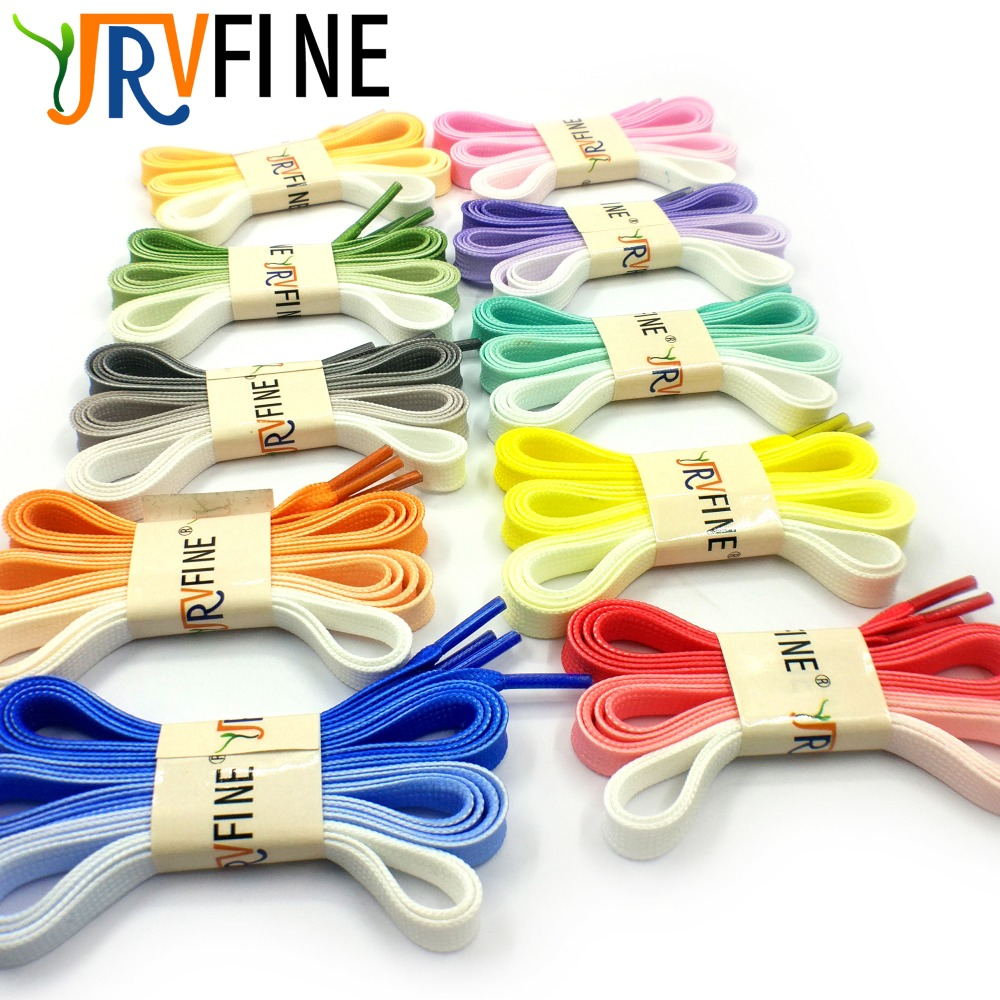 YJRVFINE 1 Pair Candy Gradient Changing Flat Shoe Laces Strings Rope for Women Shoes Shoelace Rainbow Shoelaces L 120 cm/W 1 cm
