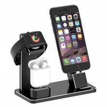 цена на Charging Dock Stand Holder Station for Headphone AirPods IPad Apple Watch i-Watch Series 1 2 3 iPhone 10 X 8 7 6 6S Plus