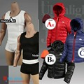 "MCtoys MC 1/6 Scale F-036 Men's Vest Suit F-038 Down Jacket For 12"" Male Action Figure Doll Toys Accessories"
