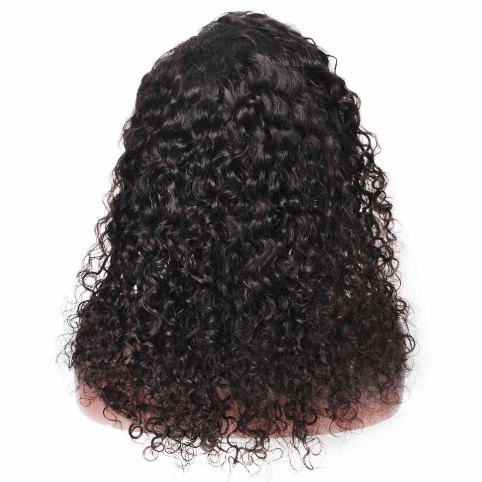 YVONNE Super kręcone ludzki włos koronki przodu peruki dziewicze brazylijskie peruki ludzki włos naturalny kolor
