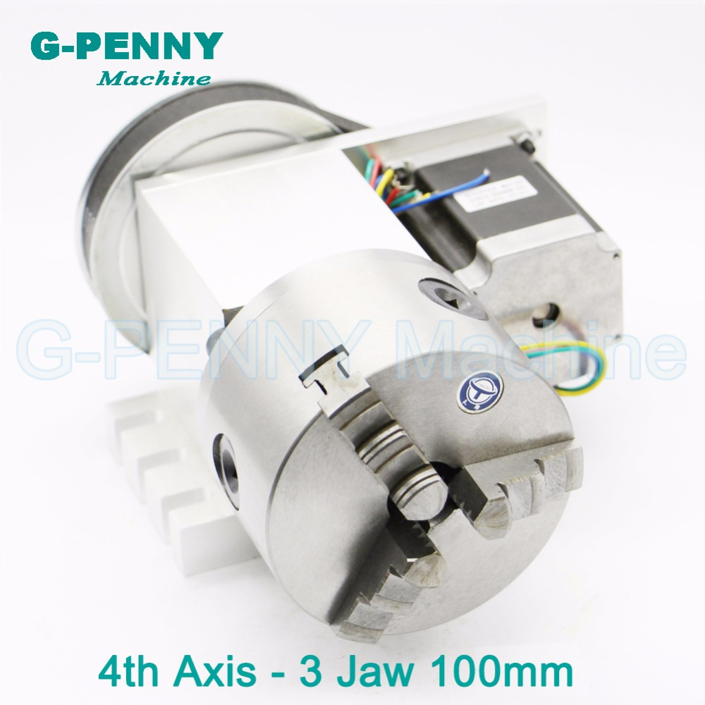 3 Jaw 100mm chuck CNC 4th Axis CNC dividing head/Rotation 6:1 A axis for Mini CNC router/engraver woodworking engraving machine er32 chunk cnc 4th axis tailstock cnc dividing head rotation axis a axis kit for mini cnc router engraver woodworking engraving