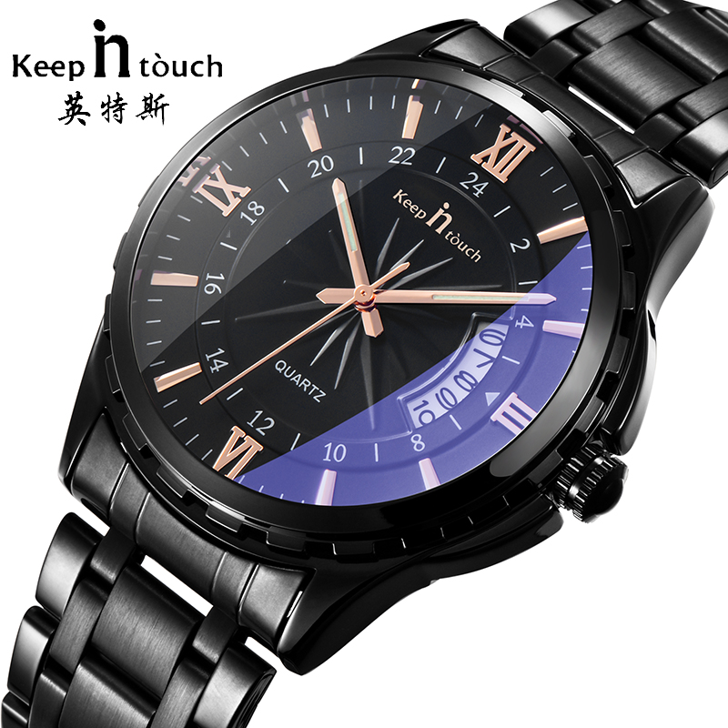 top brand watch men  fashion watches for men Calendar waterpoof noctilucent metal wrist watch birthday gifts