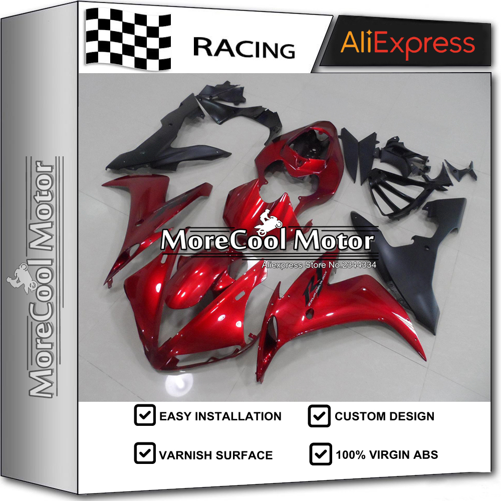 Injection Fairings For Yamaha YZF R1 04 05 06 YZF-R1 2004 2005 2006 ABS Motorcycle Fairing Kit Bodywork Candy Red & Matte Black