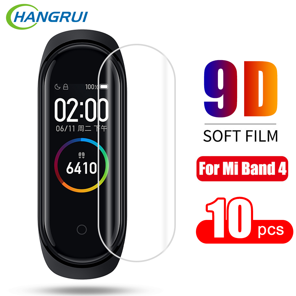 10pcs For Xiaomi Mi Band 4 Screen Protector Miband4 Smart Wristband Full Cover Ultra Thin Protective Film Not Tempered Glass