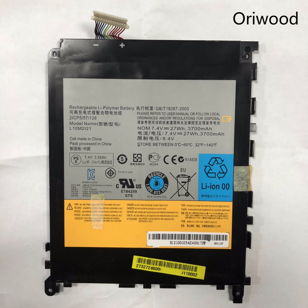 Oriwood 100% New For Lenovo 3700mah Battery For K1pc L10m2121 21cp5/57/128 7.4v 27wh Mobile Phone Batteries