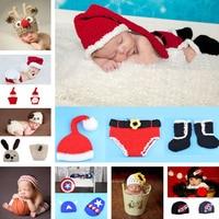 Retail Baby Crochet Earflap Hats Kids Winter Knitted Animal Hat Children Crochet Photo Props Beanie Free