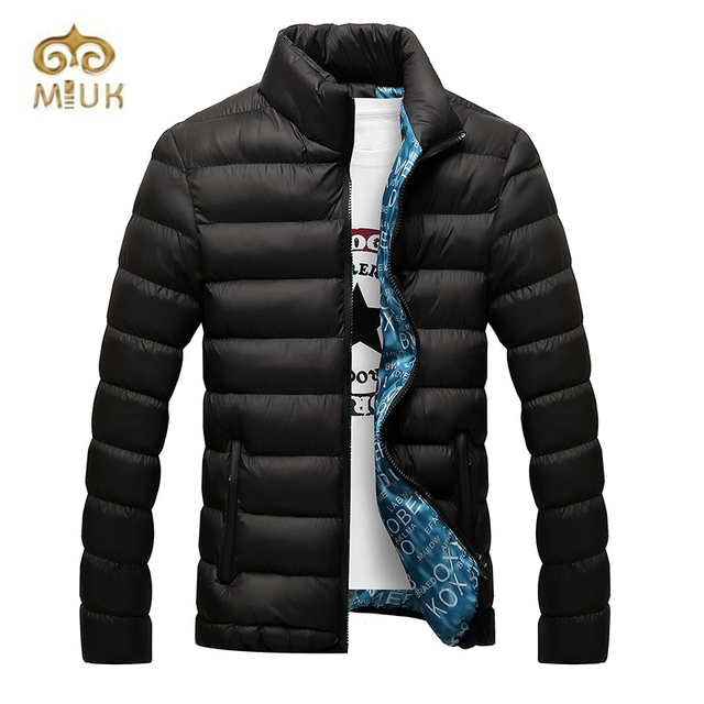 Winter Black Blue Navy Khaki Cotton Down Coat for Men Fashion 3XL Big Size Warm Campera Hombre Invierno 2017 Jaqueta Masculina