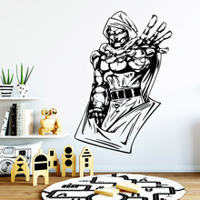Luxuriant Robot Wall Sticker Removable Self Adhesive Watercolo Decor Living Room Bedroom Decal Creative Stickers