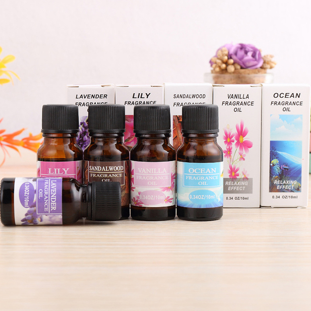 10ml Pure Essential Oils For Aromatherapy Diffusers Essential Oils Organic Body Relieve Stress Oil Skin Care Help Sleep TSLM1 5
