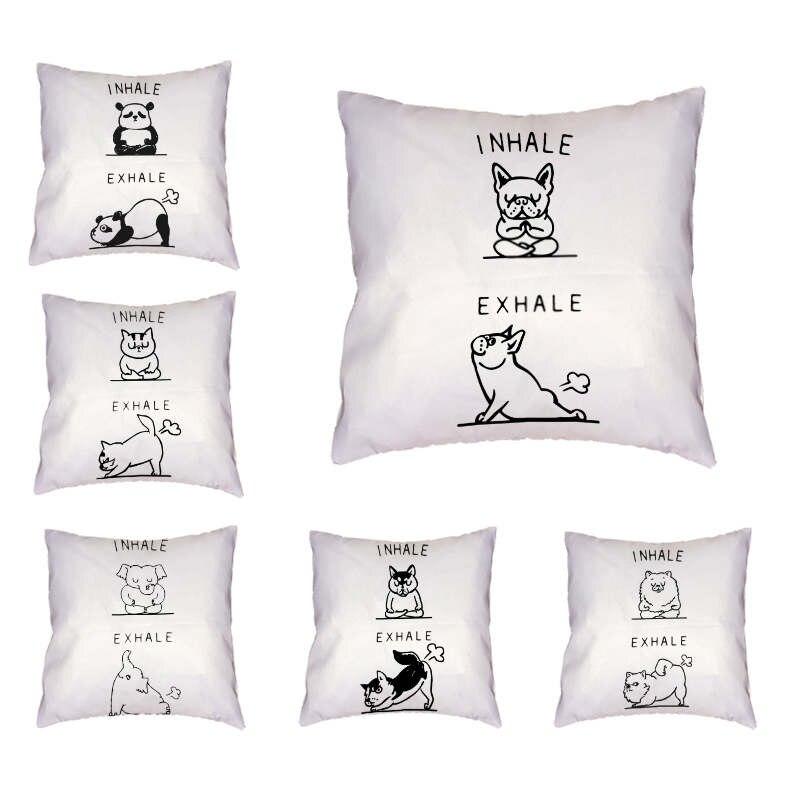Custom Chakra Pet Dog Cushion Cover Minimalist Elephant Sloth Husky Handmade Decorate Home Sofa Children Room Throw Pillow Case
