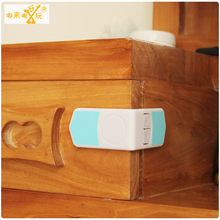 10pcs baby safety lock double snaps at right angles to lock drawer cabinet lock Infant protection lock child security