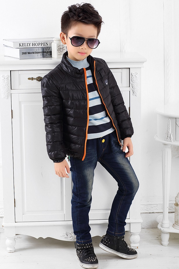 fd04697e Hot Retail Down thicken kids jacket cool boys clothes Plus velvet baby  outerwear warm baby boys winter coat for boy clothing-in Down & Parkas from  Mother ...