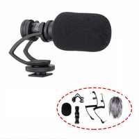 Comica CVM-VM10 II Directional Shotgun Video Microphone for DJI OSMO Smartphone GoPro and Micro Camera + Wind Muff+ Carry Case