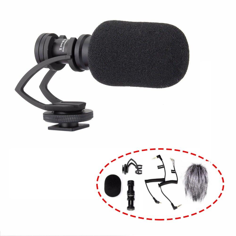 Comica CVM VM10 II Directionele Shotgun Video Microfoon voor DJI OSMO Smartphone GoPro en Micro Camera + Wind Muff + Carry case-in Microfoons van Consumentenelektronica op  Groep 1
