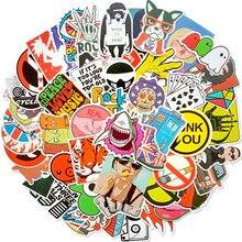 50 шт. красочные стикеры смешанные граффити аниме забавные водонепроницаемые ПВХ наклейки s для чемодана скейтборда ноутбука холодильник стикеры s