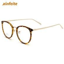 47d208ecda Small fresh Women Glasses Frame TR90 Diopter Computer Glasses Men Gold  Round Black